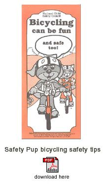 Safety Pup Bicycling Safety Tips