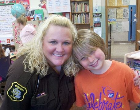 Officer with Student