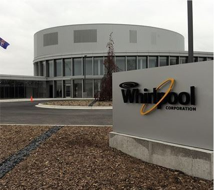 Whirlpool Corporation sign and building