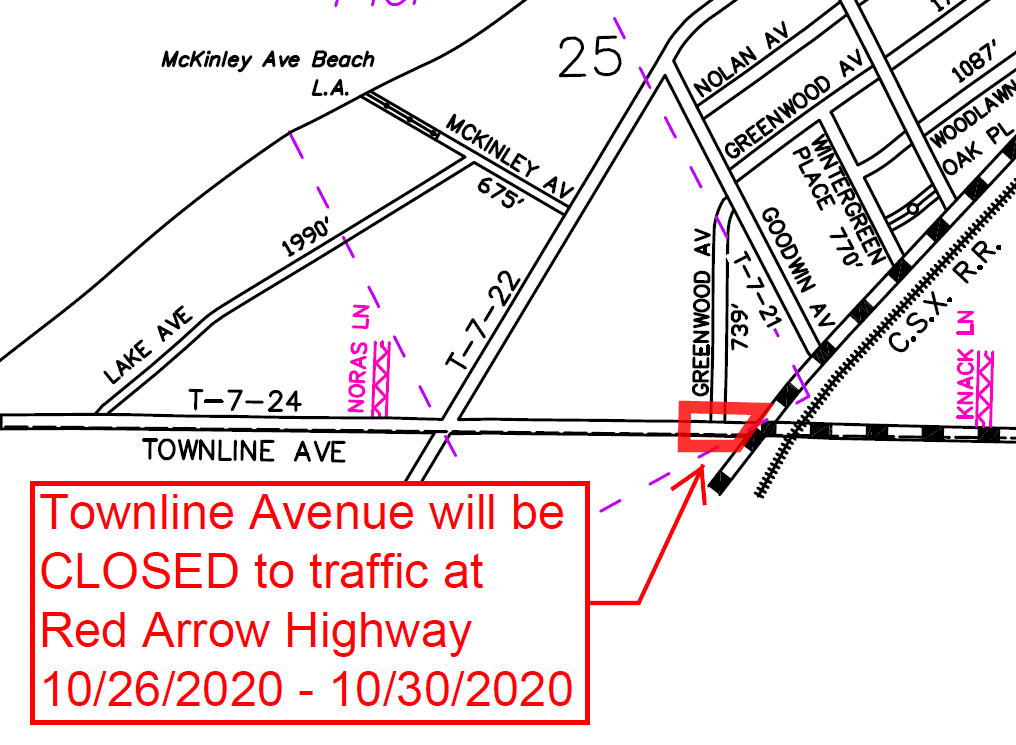 Capture Townline Avenue Closure 10 26 2020 thru 10 30 2020